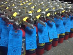 Tagged and inspected fire extinguishers