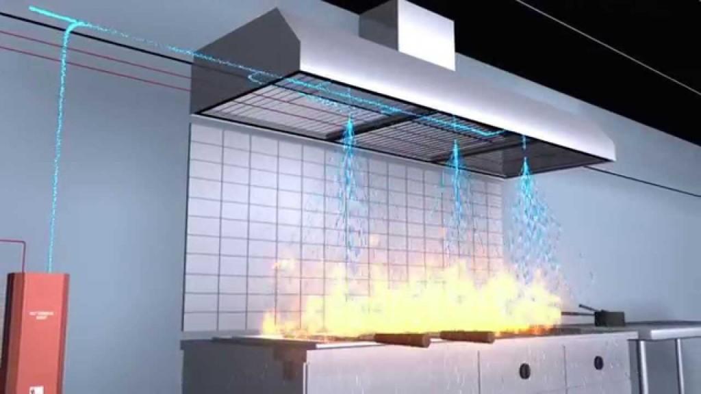 kitchen fire hood
